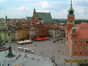 Das Königsschloss und die Sigismundsäule in Warschau